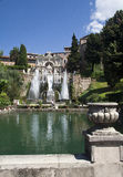 Tivoli Gardens Villa d'Este. Fountain at Tivoli gardens in Villa d'Este near Rome Royalty Free Stock Image