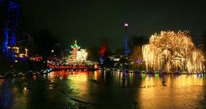 Tivoli-Garten mit gefrorenem See Lizenzfreie Stockfotografie