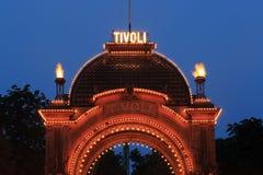 Tivoli-Haupteingang Stockfotos
