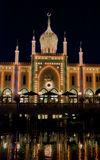 Tivoli by Night. The Nimb Building by night in Tivoli Royalty Free Stock Image