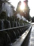 Tivoli roman fountains. Ancient roman empire gravity fountains in Tivoli Stock Photography