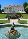 Tivoli Schloss und Brunnen Stockbild