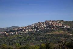 Tivoli (vicino a Roma) dalla villa del Hadrian, Italia Fotografia Stock Libera da Diritti