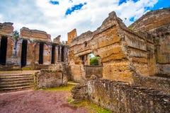 Tivoli - Villa Adriana in Rome - archeologisch ori?ntatiepunt in Itali? royalty-vrije stock foto's