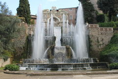 Tivoli-villa van hoofdIppolito D ` Este, Italië Stock Afbeelding