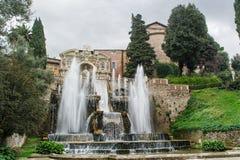 TIVOLI WŁOCHY, STYCZEŃ, - 28, 2010: Fontana dell'Organo Obraz Royalty Free