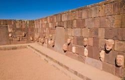 Tiwanaku,玻利维亚寺庙  库存照片