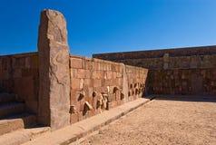 Tiwanaku,玻利维亚寺庙  库存图片