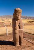 Tiwanaku,玻利维亚巨型独石  免版税库存照片
