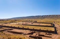 Tiwanaku,玻利维亚废墟  库存图片