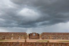 Tiwanaku,玻利维亚废墟  免版税库存照片