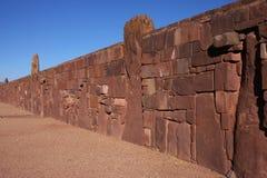 tiwanaku ściany zdjęcia royalty free