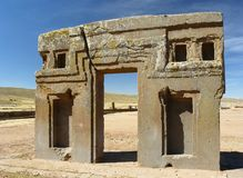 tiwanaku Боливии altiplano Стоковое Изображение RF