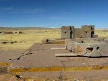 Tiwanaku, Altiplano, Bolívia Foto de Stock