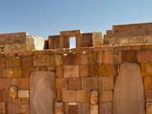 Tiwanaku, Altiplano, Bolivia Royalty Free Stock Photos