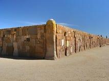 Tiwanaku, Altiplano, Bolivia Fotografie Stock