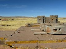Tiwanaku, Altiplano, Bolivia stock photo