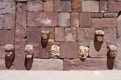 Tiwanaku Fördärvar i Bolivia, royaltyfri foto