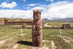 Tiwanaku Heritage in Bolivia. This photo is taken in Bolivia. Tiwanaku Spanish: Tiahuanaco or Tiahuanacu is a Pre-Columbian archaeological site in western Royalty Free Stock Photo