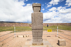 Tiwanaku Heritage in Bolivia Stock Photography