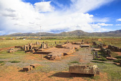 Tiwanaku Heritage in Bolivia Stock Photo