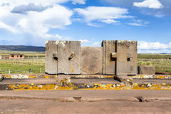 Tiwanaku Heritage in Bolivia Royalty Free Stock Photos