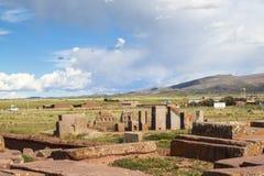 Tiwanaku Heritage in Bolivia stock image