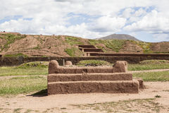 Tiwanaku Heritage in Bolivia. This photo is taken in Bolivia. Tiwanaku Spanish: Tiahuanaco or Tiahuanacu is a Pre-Columbian archaeological site in western Stock Photos