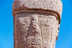 Tiwanaku monolit arkivfoton