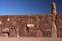 tiwanaku ogromna ściana zdjęcie stock