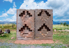 Tiwanaku. Ruins in  Bolivia, Royalty Free Stock Photo