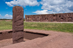 Tiwanaku. Ruins in  Bolivia, Stock Photos