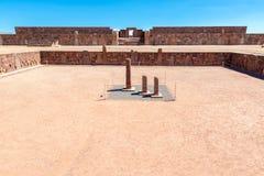 Tiwanaku Semi Subterranean Temple Stock Image