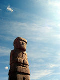 Tiwanaku statue in Bolivia Royalty Free Stock Images