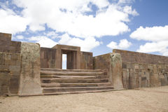 Tiwanaku or Tiahuanaco Royalty Free Stock Images