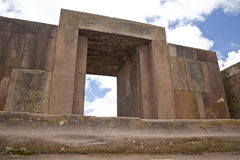 Tiwanaku or Tiahuanaco Stock Photos