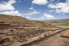 Tiwanaku or Tiahuanaco royalty free stock photography