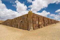 Tiwanaku Tiahuanaco, Pre-Columbian arkeologisk plats, Bolivia arkivfoton