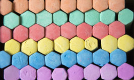 Tiza coloreada Foto de archivo libre de regalías