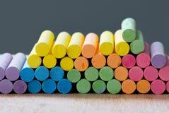 Tiza colorida de la pila Fotografía de archivo libre de regalías