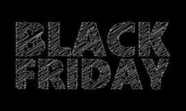Tiza de Black Friday Fotografía de archivo