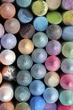 Tiza de la acera de arriba Imagen de archivo libre de regalías