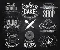 Tiza de los caracteres de la panadería Fotos de archivo libres de regalías