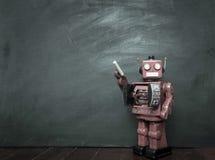 Tiza de los robots Imagen de archivo libre de regalías