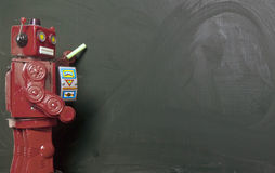 Tiza de los robots Fotografía de archivo libre de regalías