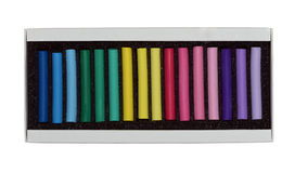 Tiza del color en el rectángulo aislado Imagenes de archivo