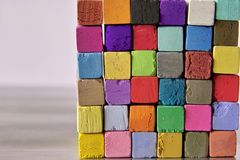 Tiza en colores pastel Fotos de archivo