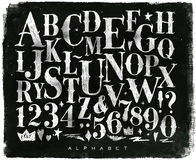 Tiza gótica del alfabeto del vintage ilustración del vector