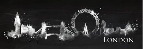 Tiza Londres de la silueta Imagenes de archivo