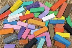 Tizas coloreadas Imágenes de archivo libres de regalías